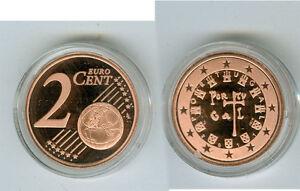 Portugal 2 Cent Pp / Proof (Choisissez Entre Les Millésimes : 2005 - 2019)