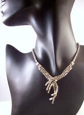 I Estate Fabulous Jewels by Julio Rhinestone Baguette Wave Necklace