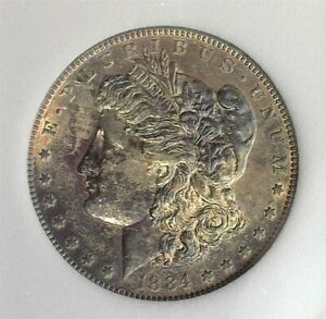 1884-S MORGAN SILVER DOLLAR UNCIRCULATED+ EXCELLENT TONING!! RARE THIS NICE!!