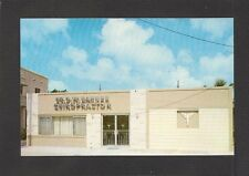 ADVERTISING POSTCARD:  DR. G.W. BARNES - CHIROPRACTOR - MIAMI, FLORIDA, c.1960