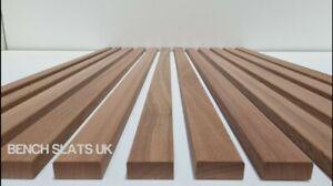 8 Solid Sapele Hardwood Garden Bench Slats  1220mm (4ft)