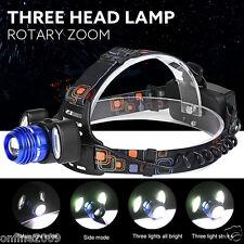 15000LM CREE 3x XML T6 LED Headlamp Headlight Flashlight Outdoor Head Light