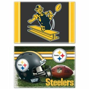 """FOUR (4) PITTSBURGH STEELERS 2"""" X 3""""  MAGNETS FROM WINCRAFT (MIX OR MATCH)"""