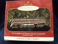 Hallmark Keepsake Ornament 1957 Norfolk Western Steam Locomotive Lionel 1999