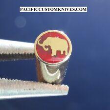 "Elephant Mosaic Knife Pins - 25/64"" x 3"" - (9.5mm x 8cm) 1 Piece"