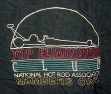 Vintage NHRA Top Eliminator Club Black Track Jacket Windbreaker XXL 80s 90s