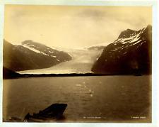 Knudsen. Norvege, Svartisene  Vintage albumen print, Norway  Tirage albuminé