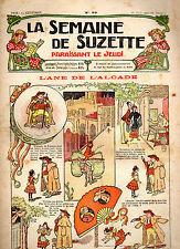 LA SEMAINE DE SUZETTE N° 29, Août 1910, LE JARDIN DE BECASSINE