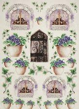 Carta di riso per Decoupage Decopatch Scrapbook Craft sheet porte, finestre & fiori
