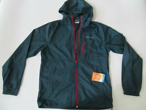Columbia Morning View Packable Hooded  UPF 40  man blue jacket sz M Brand New