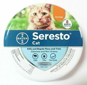 Seresto Flea and Tick Collar for Cats 8-month protection Ships Fast Sealed