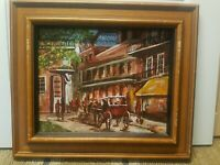 VINTAGE SIGNED  PAINTING  New Orleans Southern Folk Antoines Royal St-Calvert