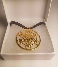 Metatron's Cube CHOKER Black Velvet Gold Plated Sacred Geometry PARAGON