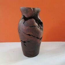 Hand Turned Burl Wood Bud Vase