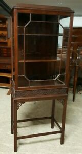 ANTIQUE THOMAS CHIPPENDALE BOOKCASE / DISPLAY CABINET