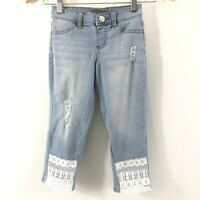 Kids' Girls Justice Capri Denim Jeans Size 8 Slim