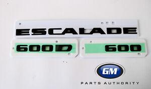 2021 Cadillac Escalade Black Emblems 84787581 Escalade 600 600D OEM GM New