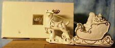 """Santa with Sleigh"" Mikasa Holiday Elegance Porcelain & Original Box"