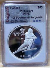 CANADA $20 CALGARY WINTER OLYMPIC 1988 Proof  **No1** (DOWNHILL)* #02