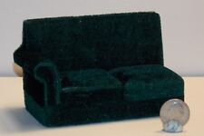 Dollhouse Miniature Green Sectional Sofa 1 piece only  1:12 one inch scale E68
