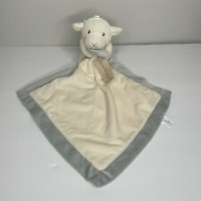 Macy's First Impressions Lamb Sheep Baby Cream Gray Security Blanket Lovey Toy
