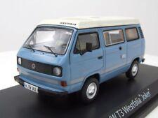 VW T3A Campingbus Westfalia Joker Azul/blanco, Coche Modelo 1:43 / SCHUCO