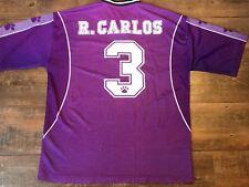Roberto Carlos Real Madrid 1997 Camiseta de fútbol Grandes Camisa Camiseta De Brasil