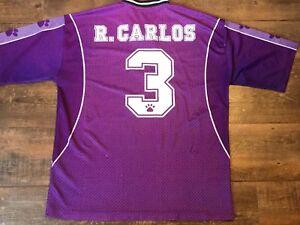 1997 Real Madrid Roberto Carlos Football Shirt Large Camiseta Brazil Camisa