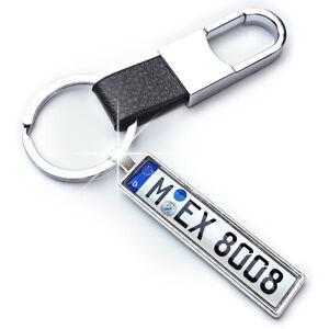 Schlüsselanhänger Kennzeichen Nummernschild Karabinerhaken Auto Geschenk Wunsch
