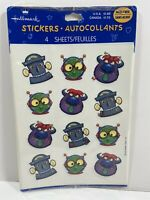 Hallmark Stickers Acid Free 4 Sheets New Space Monster Robot Theme Cute!
