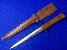British English WWI WW1 Stiletto Fighting Knife Dagger w/ Sheath