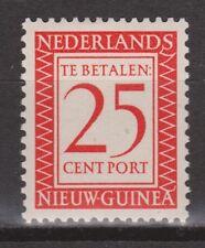 P4 Indonesia Nederlands Nieuw Guinea New Guinea port 4 MLH ong due stamp 1957