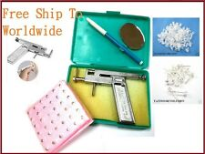 Piercing Machine Gun with 72pcs silver plate studs for Nose Ear Labret Nipple