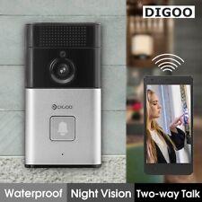 Smart WiFi Doorbell Wireless PIR Video Camera Intercom Record Home Security Bell