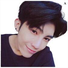 Mens Korean Handsome Vogue Black Short Hair Cosplay Party Hair Wig Full Wigs Hot