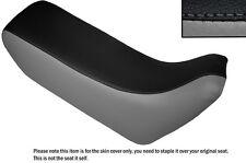 GREY & BLACK CUSTOM FITS HONDA XL 600 LMF DUAL LEATHER SEAT COVER