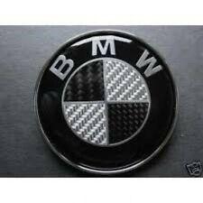 Logo badge emblème BMW 82mm carbone noir blanc tout capot et coffre série 5 E60