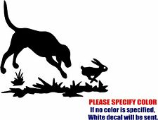 """Rabbit and Dog #10 Graphic Die Cut decal sticker Car Truck Boat Window 6"""""""