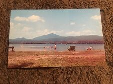 Vintage Postcard Posted 1966 Bathing Beach My Blue State Park Weid Maine