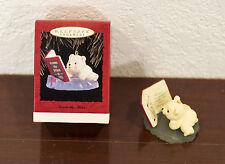 1993 ACROSS THE MILES POLAR BEAR CUB HALLMARK CHRISTMAS ORNAMENT MIB
