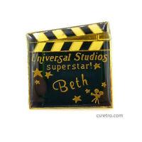 BETH Vintage Name Pin Universal Studios Metal Clutch Hat Backpack Brooch NEW
