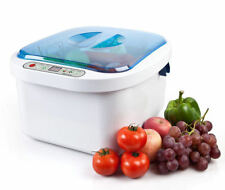 12.8L Ultrasonic Ozone Vegetable Fruit Sterilizer Cleaner Washer Health Home Use