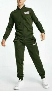 Puma Men's Baseball Tricot Fashion Sport Track Suit Tracksuit Forest Night Khaki