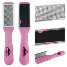 "7"" Pink Pedicure Foot Rasp File Set Scrubber Hard Dead Rough Skin Callus Remover"