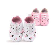 Newborn Princess Baby Girls Shoes Flower Print Sneakers Soft Sole First Walker