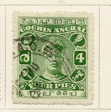 Indian States Cochin 1917-22 Early Issue Fine Used 4a.