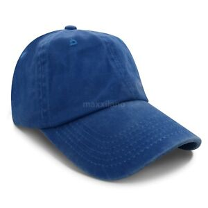 Mens Baseball Cap Washed Cotton Polo Style Caps Plain Adjustable Dad Hat Womens