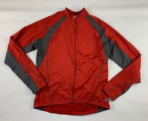 Novara Cycling Jacket Men L Red Full Zip Lightweight Biking Riding Back Pockets