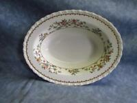 "MYO148 by Myott Staffordshire 9"" Oval Serving Bowl Floral Scalloped No Trim P4"