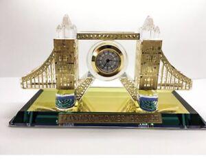 London Tower Bridge Crystal Cut Souvenir Fireplace Decorative Gift Collectible